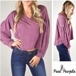 Free People \Rush Hour T-Shirt Purple Mulberry